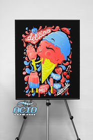 Флуоресцентная картина ACIDWEAR «ICE CREAM»