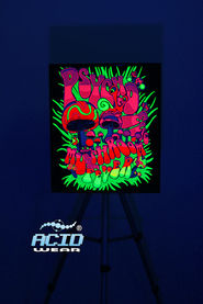 Флуоресцентная картина ACIDWEAR «MUSHROOMS FEVER»