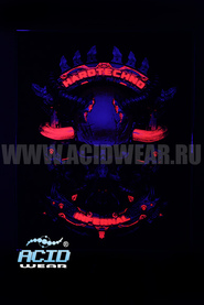 Флуоресцентная картина ACIDWEAR «HARDTECHNO INFERNAL»