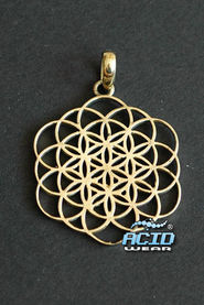 Кулон подвеска SACRED GEOMETRY «FLOWER OF LIFE P6»
