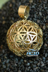 Кулон подвеска SACRED GEOMETRY «FLOWER OF LIFE P8»